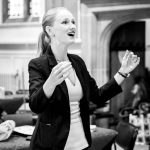 Tori Longdon rehearsing The Lea Singers at Academy St Albans in June 2019
