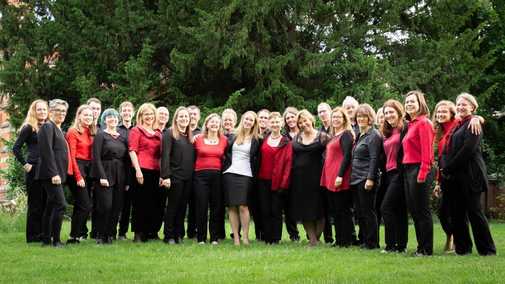 The Lea Singers chamber choir of Harpenden at Academy St Albans in June 2019
