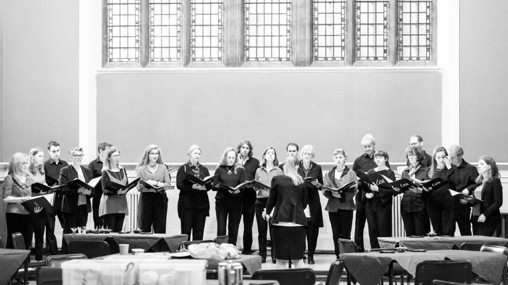 Lea Singers choir at Academy St Albans rehearsing for Summer Soirée 2019