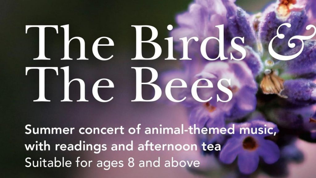 Flyer for The Birds and the Bees Lea Singers concert in Harpenden